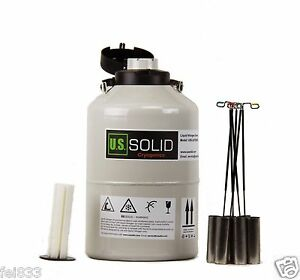 6-L-Liquid-Nitrogen-Container-Cryogenic-Tank-LN2-Dewar-6-Canisters-U-S-Solid