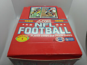 1990 Score NFL American Football Cards - Full Box with x36 Sealed Packs