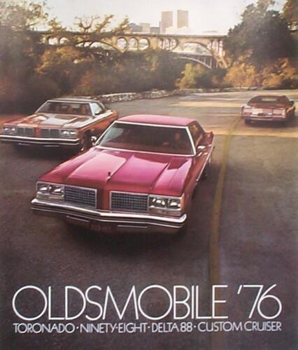 1976 Oldsmobile Toronado Ninety-Eight Delta 88 Custom Cruiser Sales Brochure
