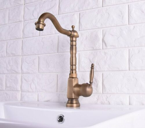 Antique Brass Swivel Kitchen Faucets Bathroom Faucet Sink Basin Mixer Tap Ksf113