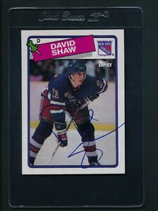 1988/89 Topps #57 David Shaw Rangers Signed Auto *C9641