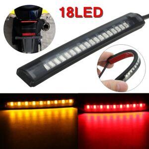 Universale-Flessibile18-LED-Striscia-luci-Faro-fanale-Moto-ATV-Stop-Turn