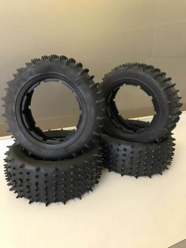 UberRC Viper Mini Spike Upgrade Tyres for KM X2 /& 5ive-T ***FULL SET 4 TYRES ***