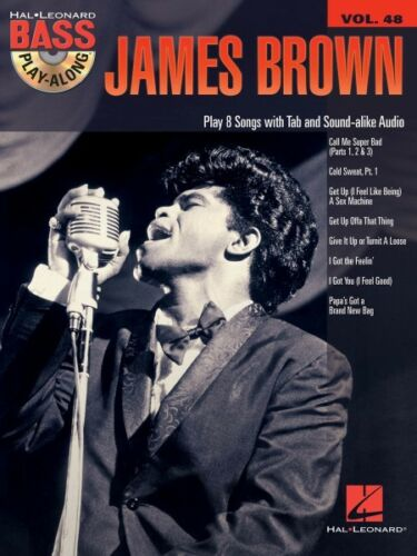 James Brown Sheet Music Bass Play-Along Book and CD NEW 000117421