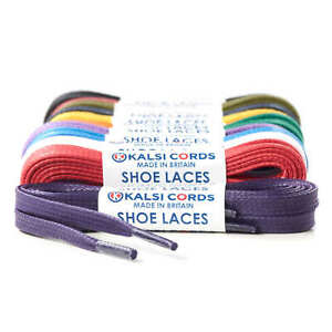 6eb8fb342b1 Details about 6mm FLAT WAXED COTTON SHOE LACES PREMIUM QUALITY FOR TRAINER  BOOT SNEAKER SPORT