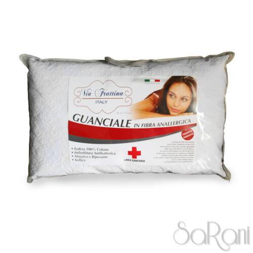 Guanciale Cuscino Anallergico Imbottitura Antibatterica Soffice Cervicale SARANI