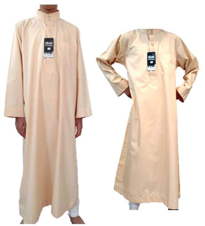 Islamic Boys Muslim Long Sleeved Thobe Kurta Arabic Muslim Fashion Exclusive NEW