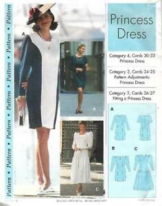 Sewing-Step-by-Step-PRINCESS-DRESS-1993-Misses-Sizes-4-22-Uncut
