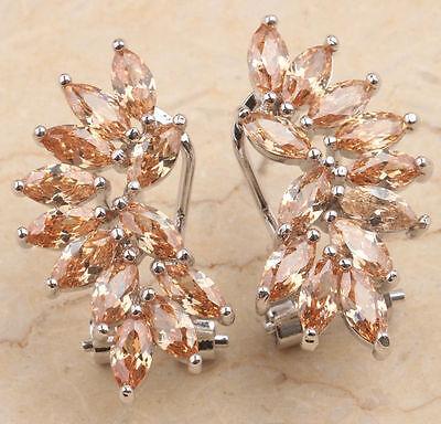 Stunning   Morganite   earrings 925 silver