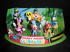 Disney Mickey Mouse Clubhouse Christmas Ornaments 6pc Set Pluto Goofy Donald !