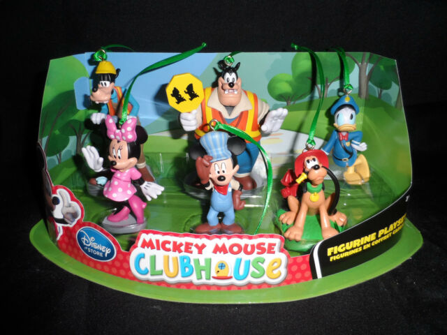 disney mickey mouse clubhouse christmas ornaments 6pc set pluto goofy donald - Mickey Mouse Clubhouse Christmas