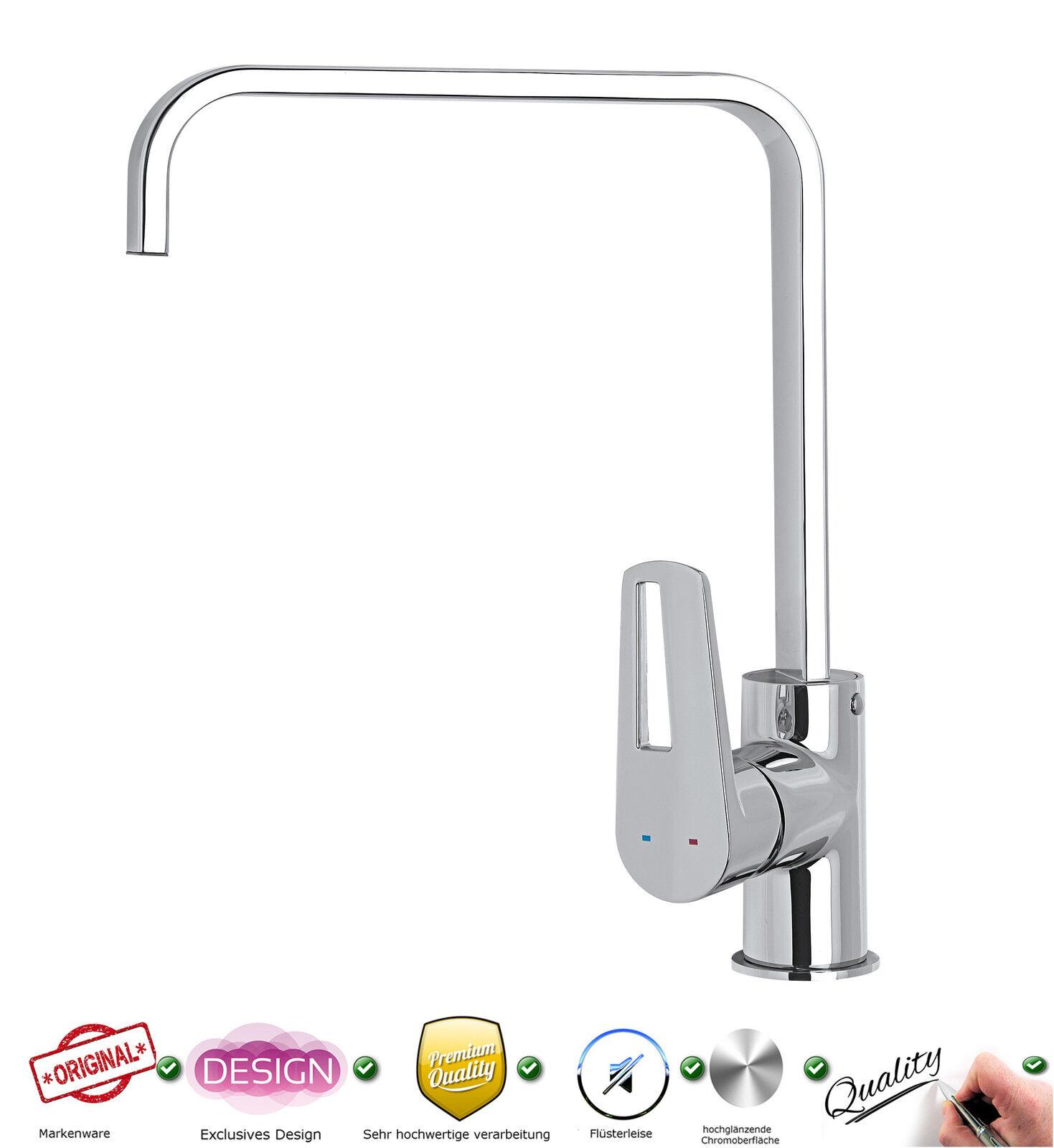 Spültischarmatur Küchenarmatur Einhebelmischer Wasserhahn Einhandmischer LO03