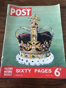 picture-post-OLD-VINTAGE-MAGAZINE-1950s-23-feb-1952-queen-coronation-royalty