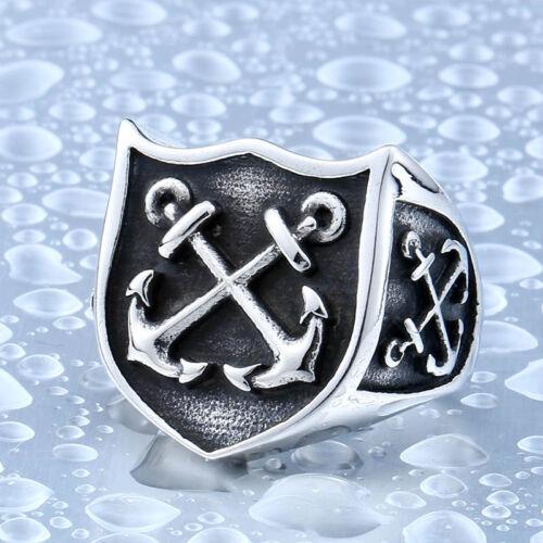 Anillo Ring Marinero Anclas Sailor Anchors Acero Inoxidable