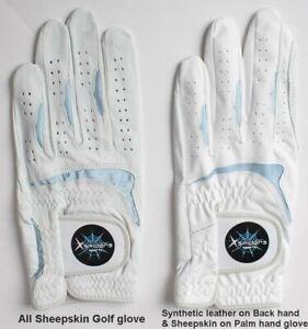 Men-039-s-Golf-Gloves-Cabretta-Natural-Sheepskin-Pick-size-hand-leather-Durable-B6