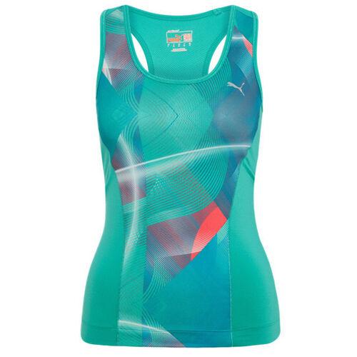 Puma Ess Gym Graphic Tank Vest Top Sleeveless Womens Green 509650 18 EE126