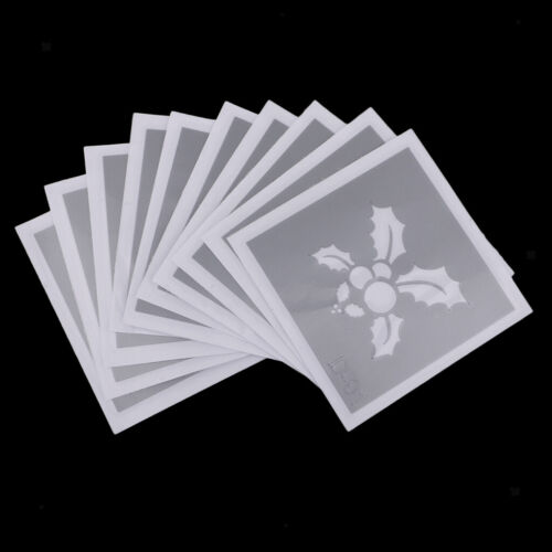 10x Reusable Body Face Art Paint Painting Stencil Tattoo Make up Template