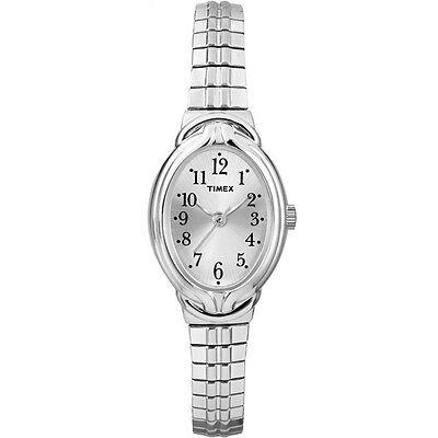 Timex Women's Dress Watch   Silver-Tone Expansion Band   Fashion T2N981