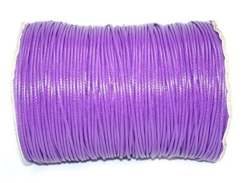 5 Meter #D62 Lila Wachsband Wachsschnur Perlenschnur 1mm