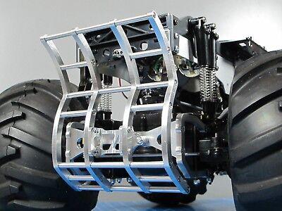 Tamiya 1//10 RC Ford F350 Juggernaut 1 2 Aluminum Axle Mount Bumper Grill Guard