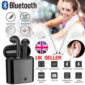 Twins Wireless Earphone Bluetooth Headphones Stereo Earbud Sports Sweatproof uk
