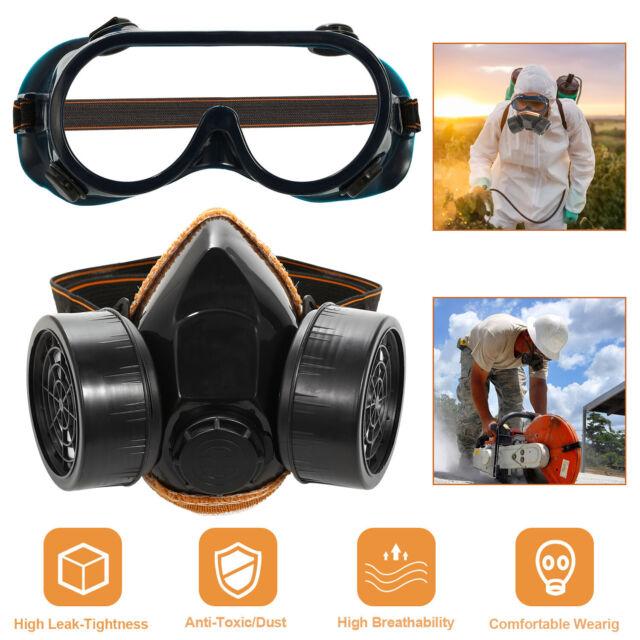 full face mask respirator over glasses