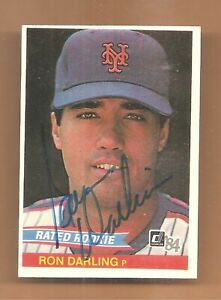RON-DARLING-AUTOGRAPHED-SIGNED-CARD-N-Y-METS-1984-DONRUSS-ROOKIE-BASEBALL