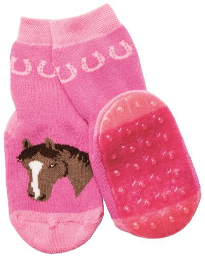 Antirutsch Socken * Motiv Pferd *Fb Tinte o Himbeere* Ewers 22065 * Stoppi