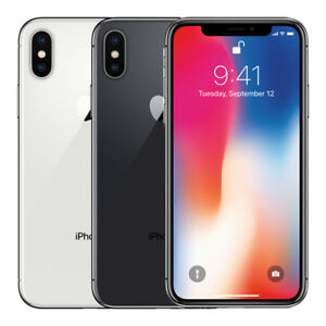 "Apple iPhone X 64GB ""Factory Unlocked"" 4G LTE iOS WiFi 12MP Camera Smartphone"