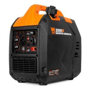 WEN 2,000-W Super Quiet Portable Gas Powered Inverter Generator Home RV Camping
