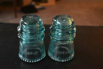 Free shipping. Glass Insulator Hemingray 45 Clear glass antique railroad telephone telegraph  and electrical pole insulator