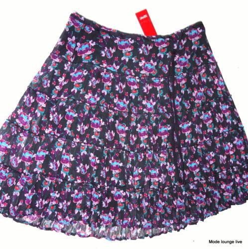 Chiffon Flowers 36 Skirt Oliver Crash S Purple Skirt S Flower Y5wHXfxqf