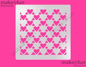 Airbrushing Cookie Stencil Schablone Heart Cake Stencil