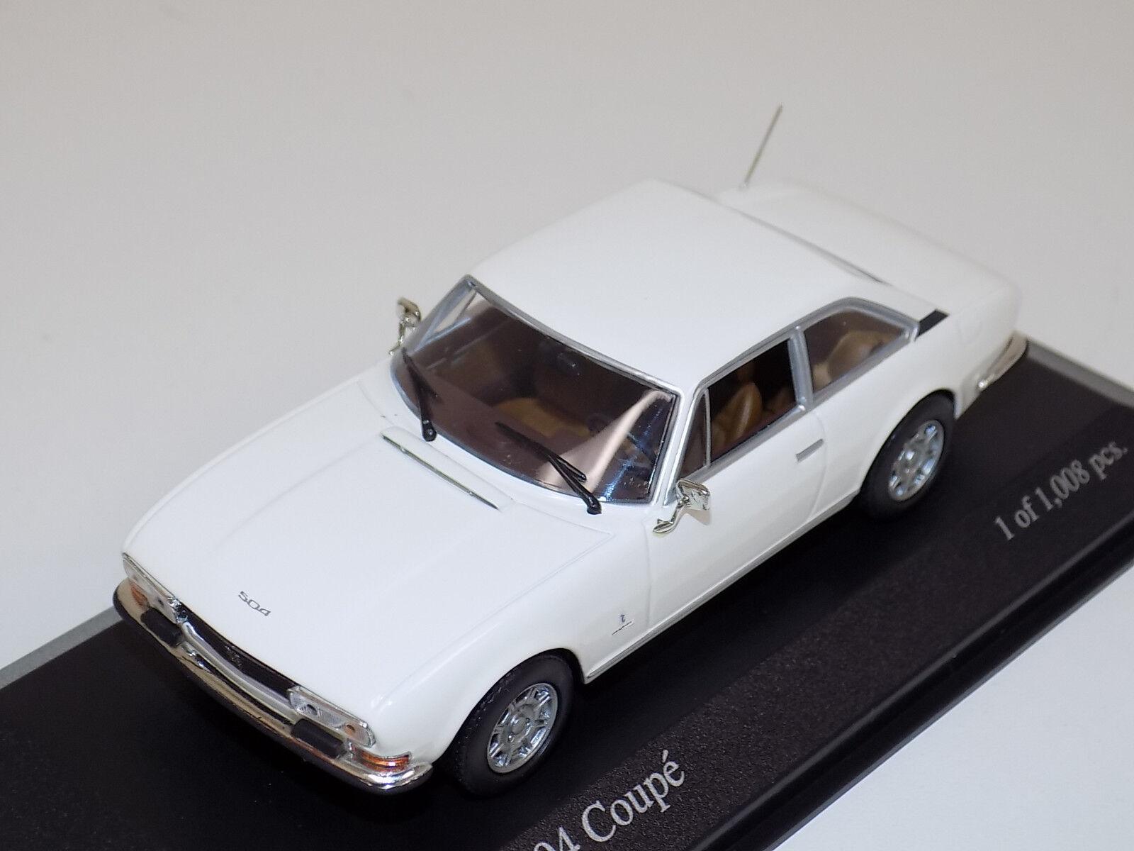 1   43 minichamps peugeot 504 coupé straße 1976 in weißen 400 112125