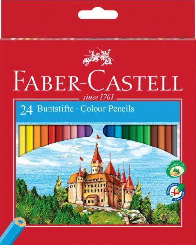 Faber CASTELL Hexagonal Colorante Lápices en cajas de 12 o 24 Lápices Clásico