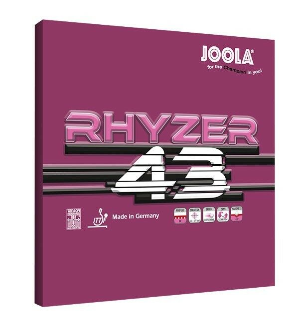 Joola Joola Joola Tischtennis Belag Rhyzer 43 rot   schwarz 2,0mm   max NEU   OVP b656f8