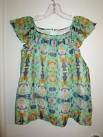 Milly Minis 12 Swing Top Cotton / Silk Multi-color Print Washable Lined