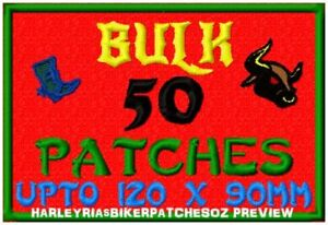 CUSTOM-MADE-TO-ORDER-SPECIAL-BIKER-EVENT-RALLY-PATCHES-50-LARGE-BULK-DEAL