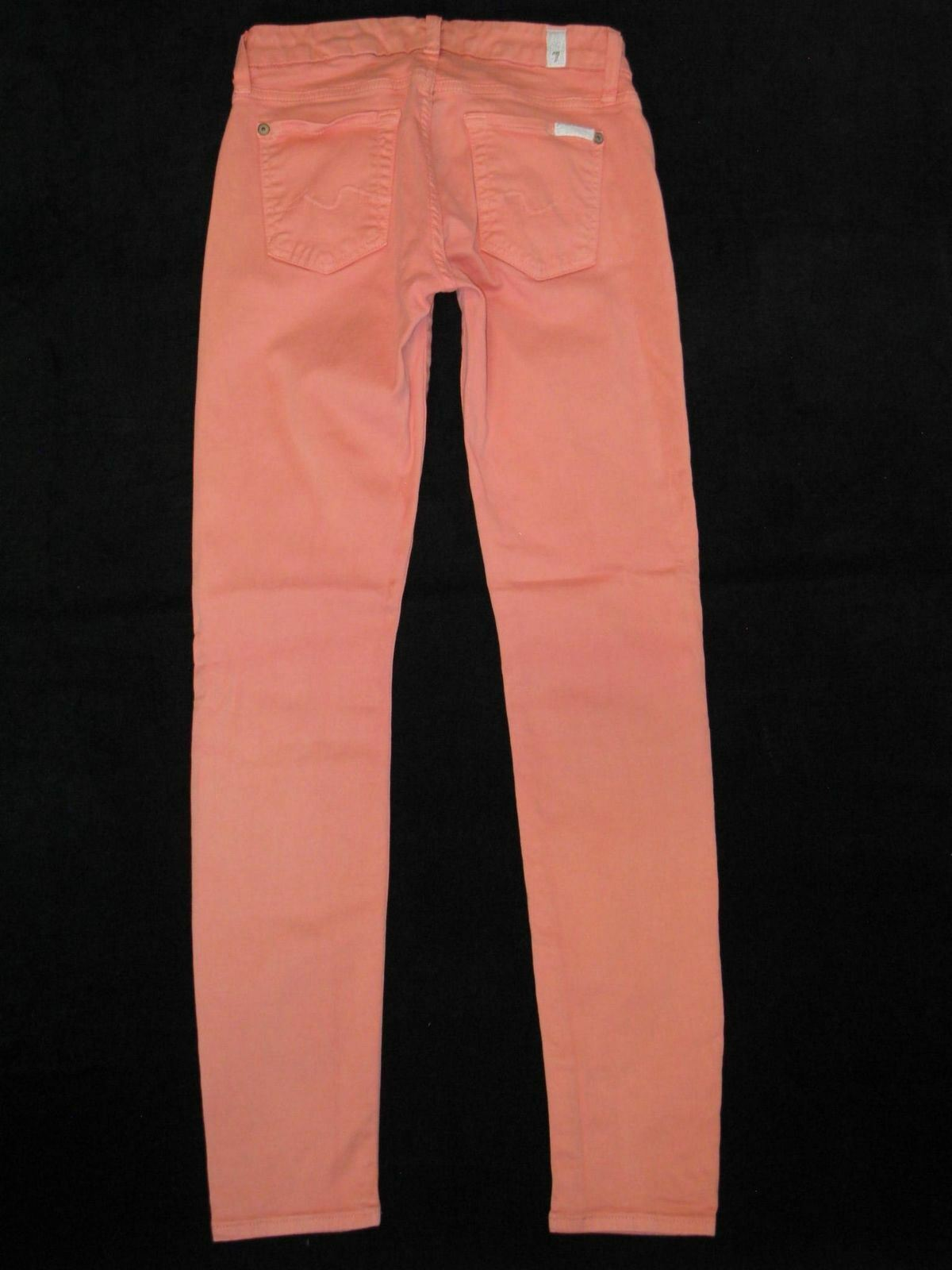 7 For All Mankind GWENEVERE SKINNY Jeans Sz 25  Coral   orange Stretchy