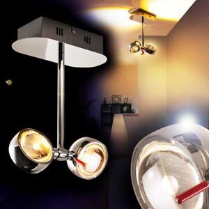 LED Lámpara de techo diseño color cromo focos ajustables comedor ...