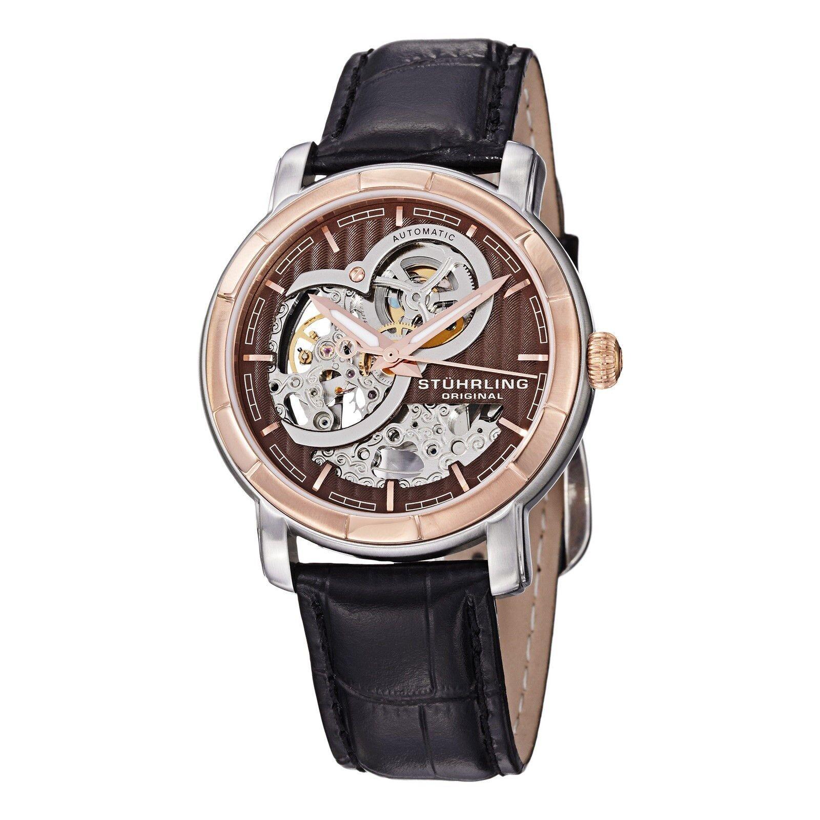 Stuhrling original men 39 s watch classic delphi dauphin auto skeleton ebay for Classic skeleton watch