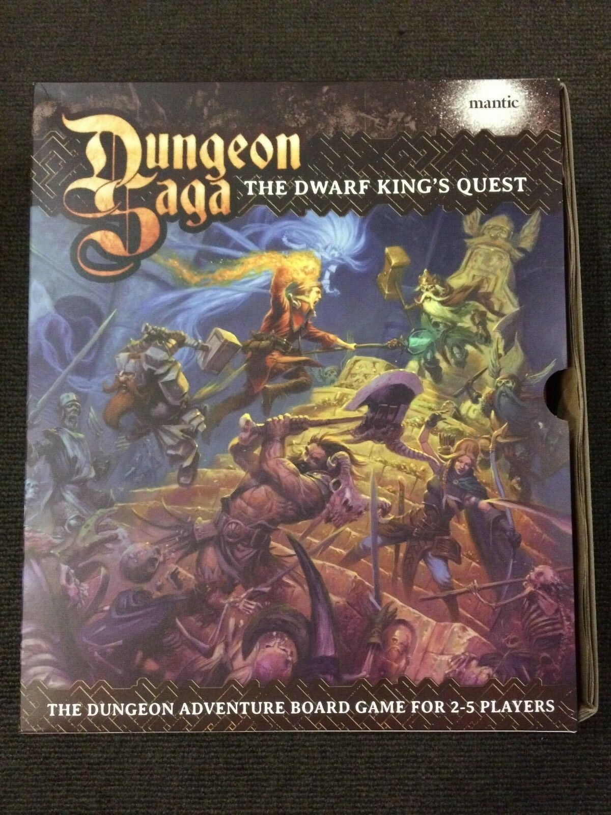 Dungeon Saga The  Dwarf re's Quest tavola gioco - Very Good Condition  vendita online risparmia il 70%