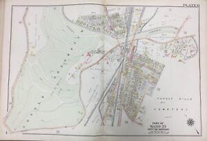 Jamaica Plain Boston Map.1905 Jamaica Plain Boston Ma Arnold Arboretum Bussey Institute