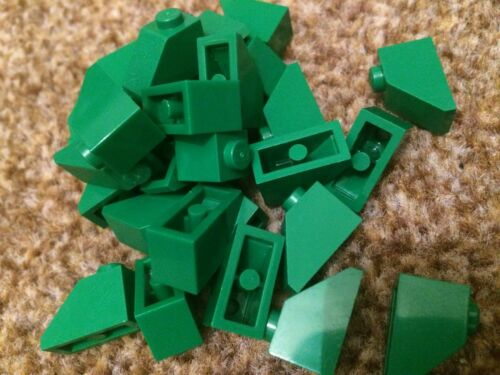 4 x LEGO Dark GREEN Bricks Slope Roof 1x2 Pieces Parts FAST FREE UK POSTAGE