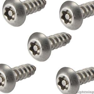 T25 Bit QTY 25 #10 Torx with Pin Tamper Proof Button Head Sheet Metal Screws