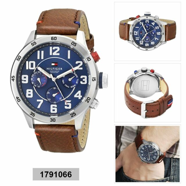 Tommy Hilfiger Trent Multi-Function Mens Analog Casual Brown Band 1791066