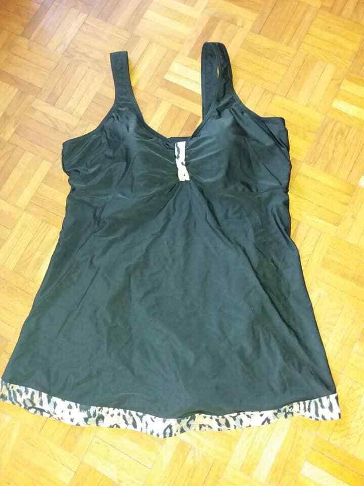 MARITIM Badekleid   Badeanzug NEU Gr. 50 C 54 D unterfüttert black & bunt