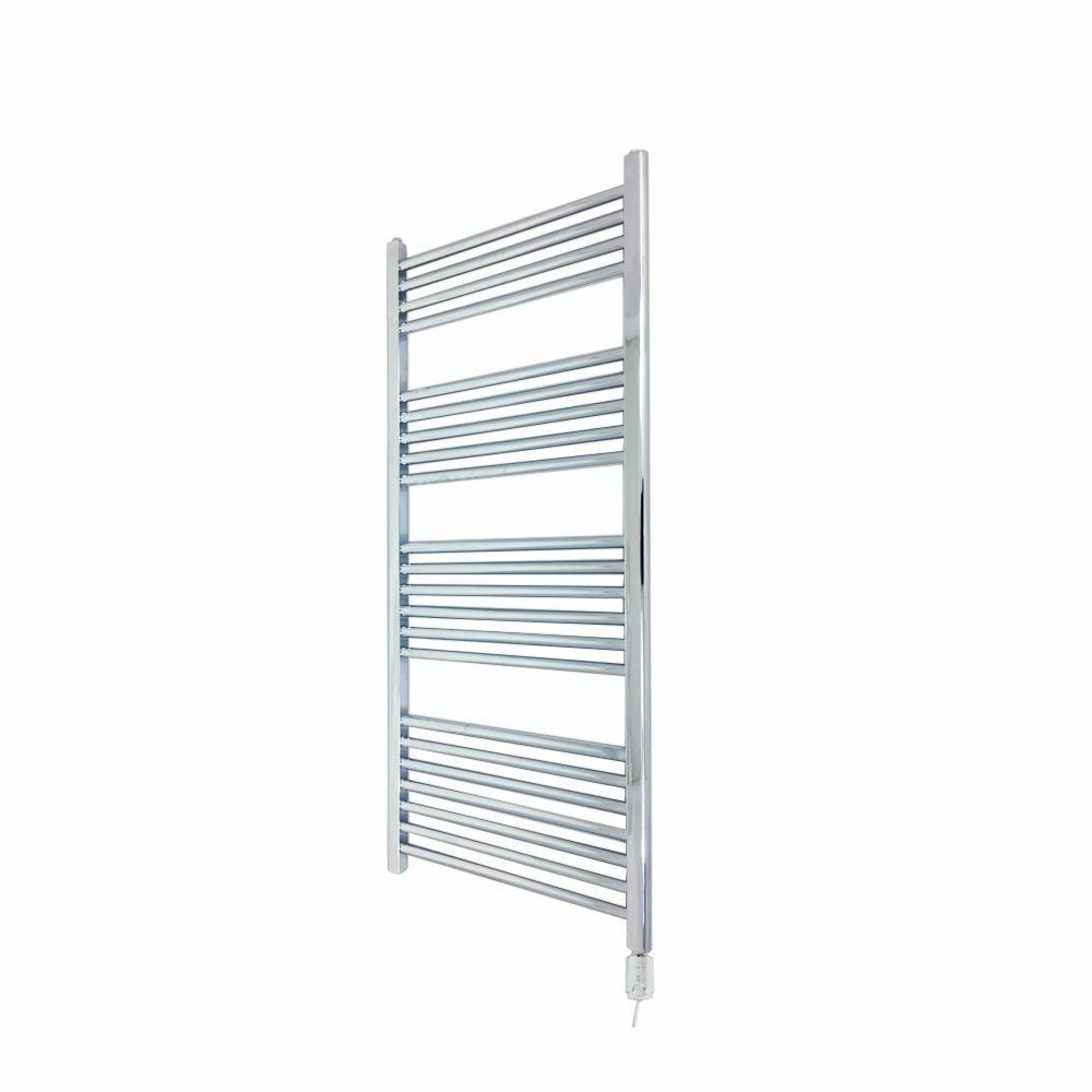 400 mm x 1200 mm Droite Chrome 300 W thermostatique serviette électrique rail & Element