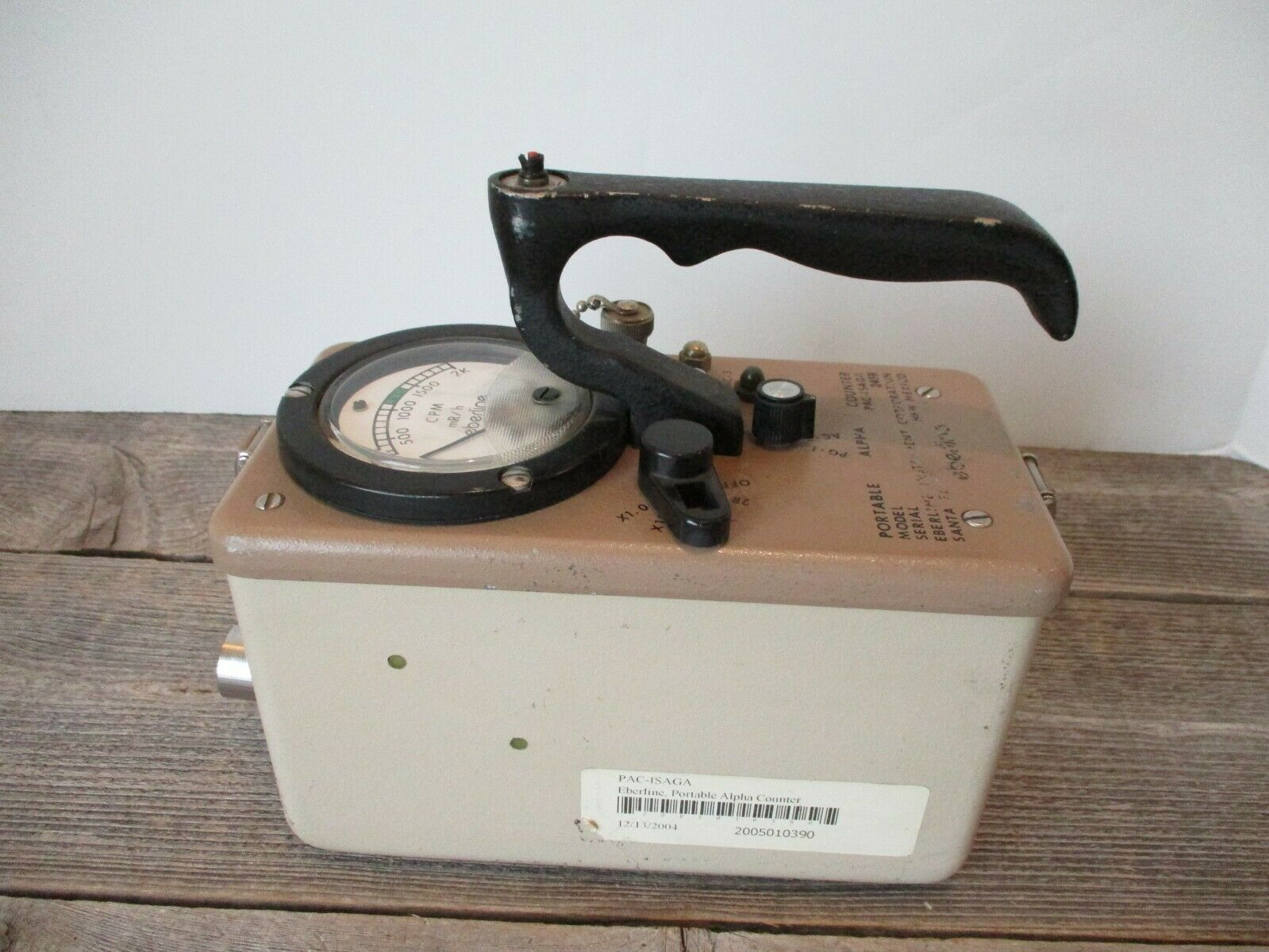 s l1600 - EBERLINE INSTRUMENTS PAC-ISAGA 2459 GEIGER COUNTER SURVEY METER COLD WAR