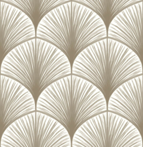 FD24231 Moonlight Taupe Palm Frond Fine Decor Wallpaper